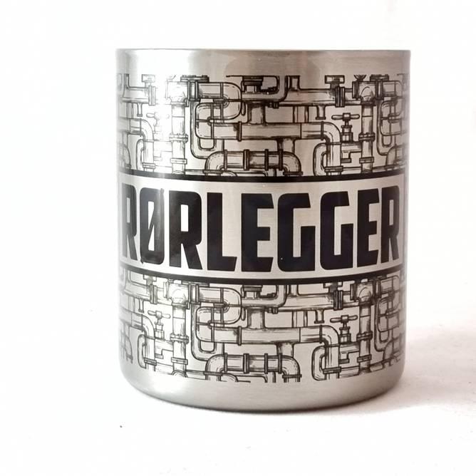 Bilde av RØRLEGGER Stålkopp