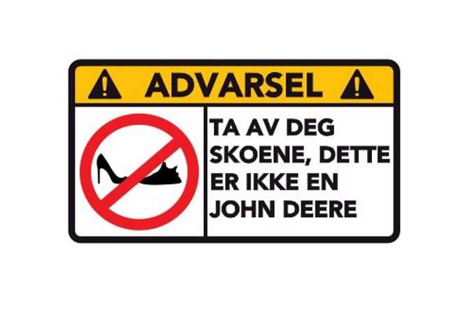 Bilde av Advarsel Dette Er Ikke En John Deere