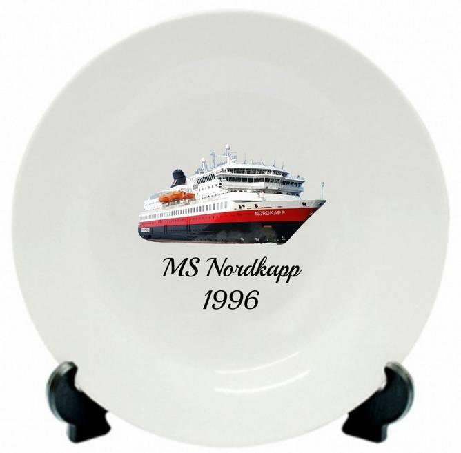 Bilde av Tallerken MS Nordkapp 1996