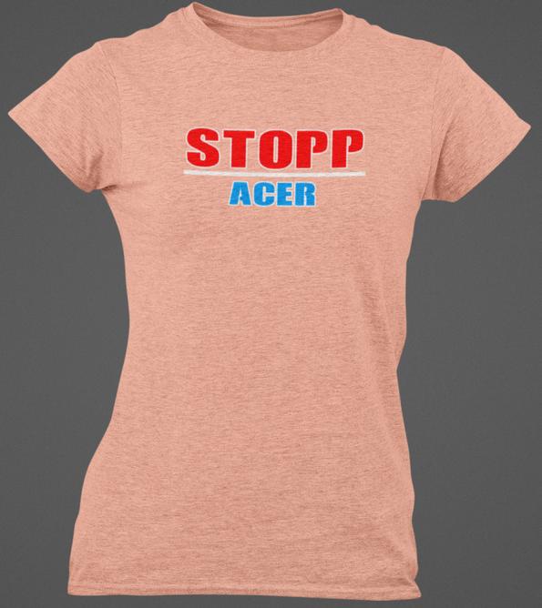 Bilde av STOPP ACER dame t-skjorte